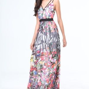 Bebe Print Maxi Dress